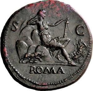 ROMA SITTING ON HER SEVEN HILLS: 1st Century Coin Known to Jews such as John