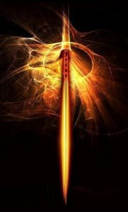 The Sword the Revolves in All Directions for Truth, PD Image