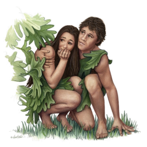 Artist Perspective of Adam and Eve Hiding, PDI
