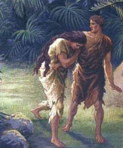 Adam & Eve Cast Out and Cursed to Hard Toil and Labor