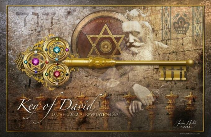 Image result for THE KEY OF THE HOUSE OF DAVID