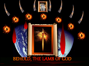 Lamb With Seven Eyes Of The Spirit For Searching the World For Seven Days