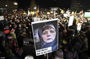 Current Worthless Shepherd of Germany, Angela Merkel Protested Against for Welcoming Islam, PDI