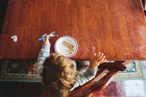 Toddler Eating Cereal, PDI