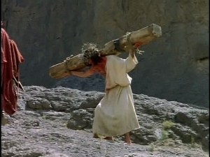Yeshua Carrying Cross For His Sacrifice