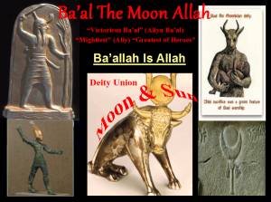 Moon Deity Ba'al to Moon Deity Allah