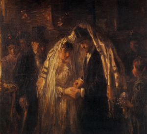 Jewish Weeding of Old, Sharing the Veil
